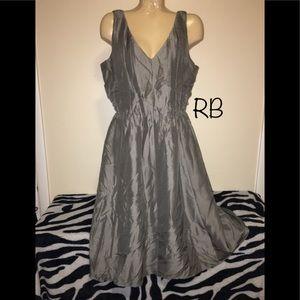 🌈NWT $150 Banana Republic Gray 100% Silk Dress 14